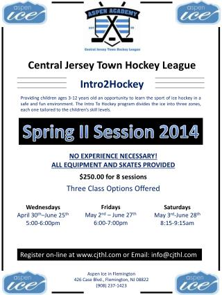 Central Jersey Town Hockey League
