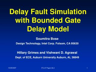 Delay Fault Simulation with Bounded Gate Delay Model