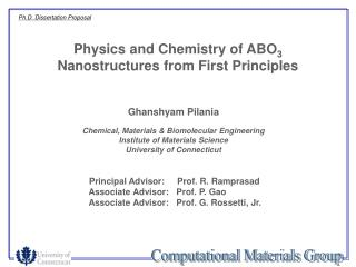 Physics and Chemistry of ABO 3  Nanostructures from First Principles