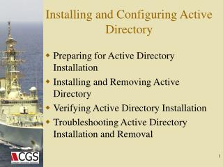 Installing and Configuring Active Directory