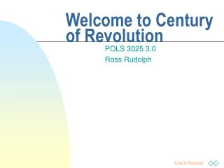 Welcome to Century of Revolution