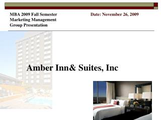 Amber Inn& Suites, Inc