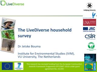 The LiveDiverse household  survey
