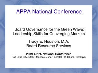 APPA National Conference