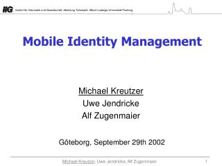 Mobile Identity Management