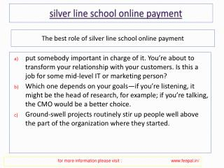 Very simple and safe processor for silver line school online