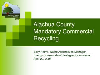 Alachua County Mandatory Commercial Recycling