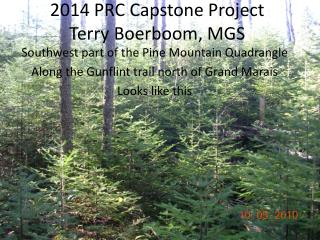 2014 PRC Capstone Project Terry Boerboom, MGS