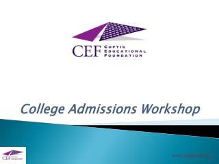 College Admissions Workshop