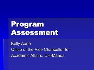 Program Assessment