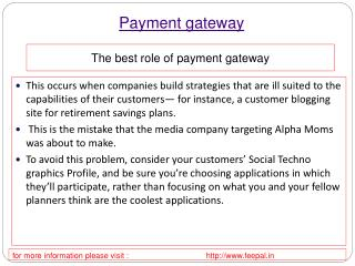 some different type of information related about payment gat