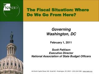 The Fiscal Situation: Where Do We Go From Here?