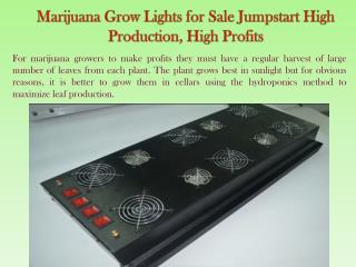 Marijuana Grow Lights for Sale Jumpstart High Production, Hi