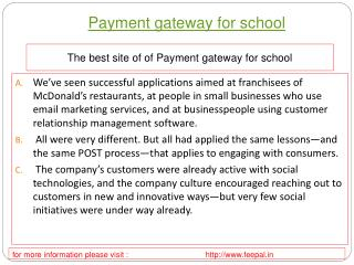 Best transaction site of payment gateway for school
