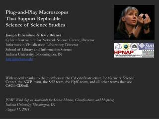 Plug-and-Play Macroscopes  That Support Replicable  Science of Science Studies