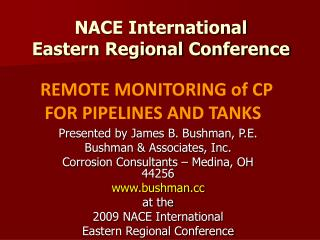 NACE International Eastern Regional Conference
