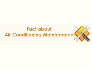 Air Conditioning and Maintenance