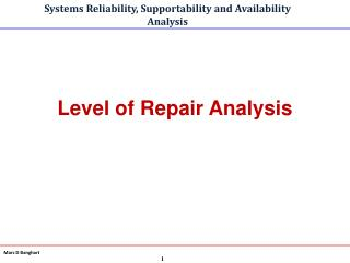 Level of Repair Analysis