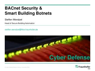 BACnet Security & Smart Building Botnets
