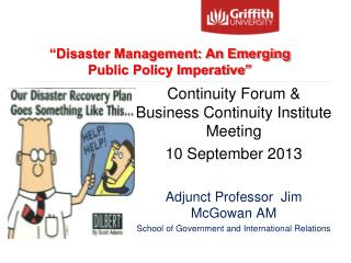 Continuity Forum & Business Continuity Institute Meeting  10 September 2013