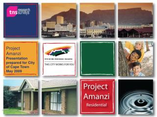 Project Amanzi Presentation prepared for City of Cape Town May 2009