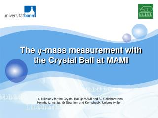The  η - mass measurement with the Crystal Ball at MAMI