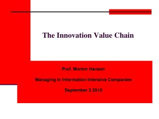 The Innovation Value Chain