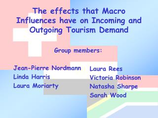 The effects that Macro Influences have on Incoming and Outgoing Tourism Demand