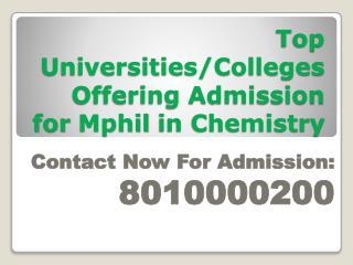 8010000200-MPhil in Chemistry Distance Education in Delhi