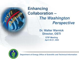 Department of Energy Office of Scientific and Technical Information