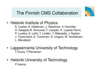 The Finnish CMS Collaboration