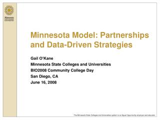 Minnesota Model: Partnerships and Data-Driven Strategies