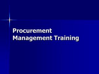 Procurement Management Training