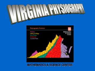 VIRGINIA PHYSIOGRAPHY