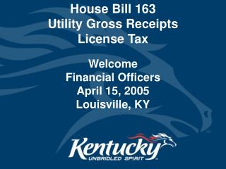 House Bill 163  Utility Gross Receipts  License Tax