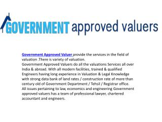Government Approved Valuer