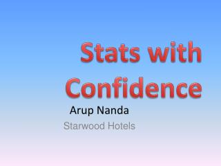 Stats with Confidence