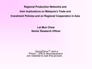 Lai Mun Chow Senior Research Officer