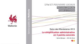 La simplification administrative  en 3 points concrets