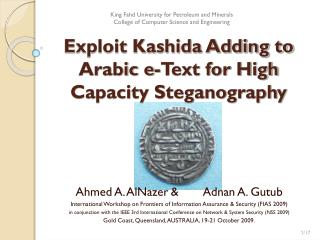 Exploit Kashida Adding to Arabic e-Text for High Capacity Steganography