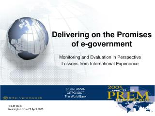 Delivering on the Promises of e-government