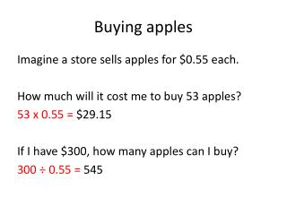 Buying apples
