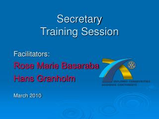 Secretary Training Session