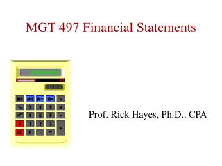 MGT 497 Financial Statements