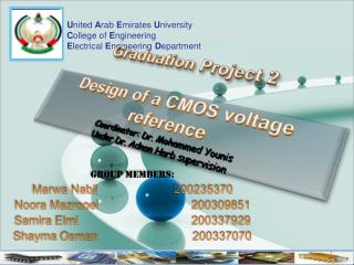 United Arab Emirates University College of Engineering Electrical Engineering Department