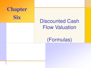 Discounted Cash Flow Valuation (Formulas)