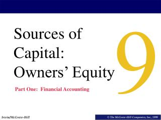 Sources of Capital: Owners' Equity