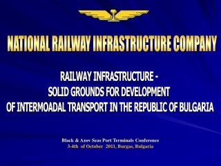 NATIONAL RAILWAY INFRASTRUCTURE COMPANY