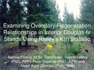 Examining Overstory-Regeneration Relationships in Interior Douglas-fir Stands Using Ripley s Kt Statistic