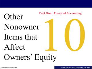 Other Nonowner Items that Affect Owners' Equity